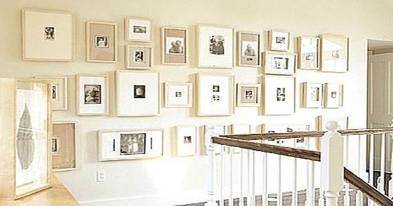C mo decorar una pared con fotos j radal - Donde decorar fotos ...