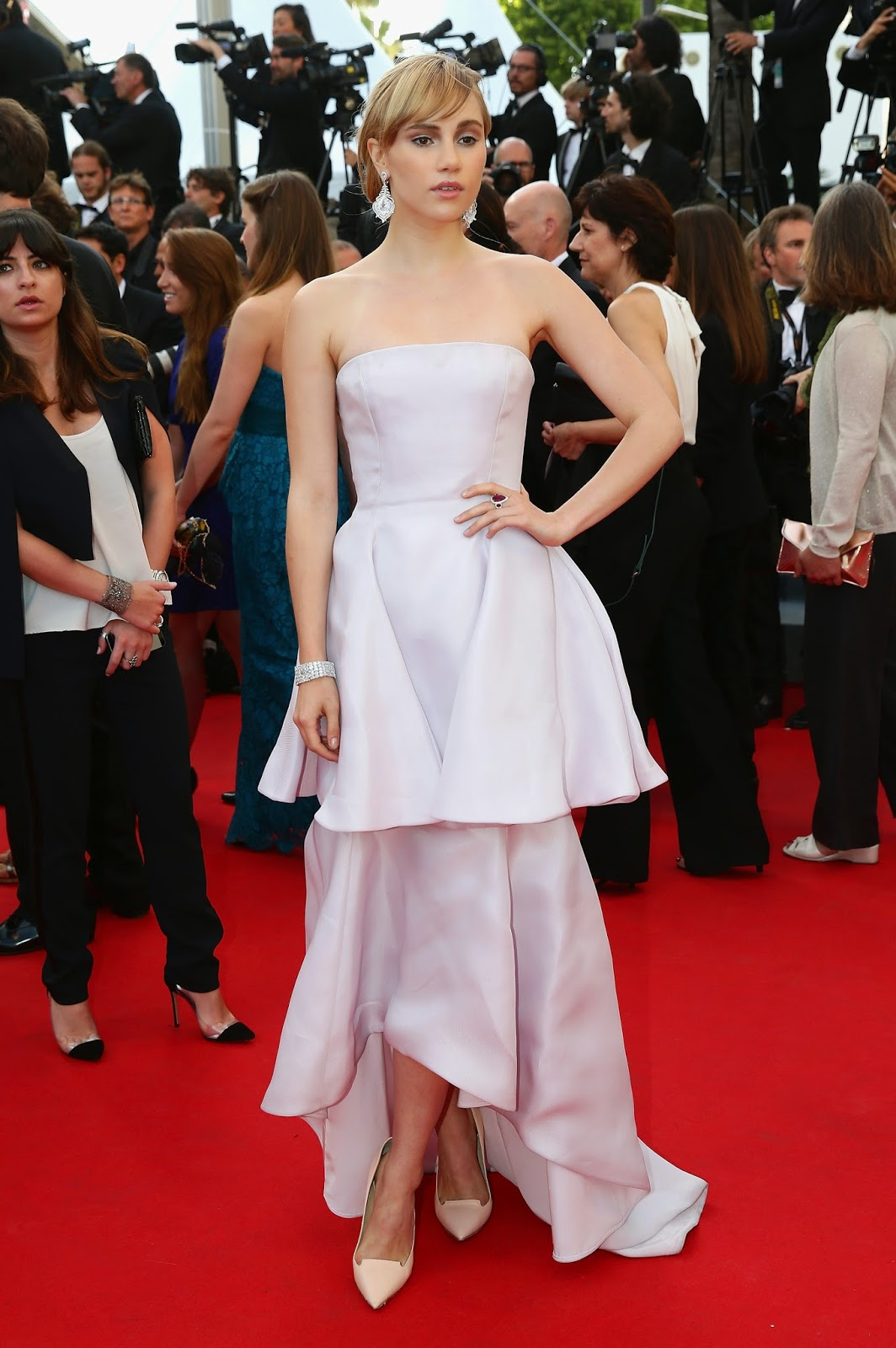 Actress, Model @ Suki Waterhouse - Candids 'The Homesman' Premiere, Cannes
