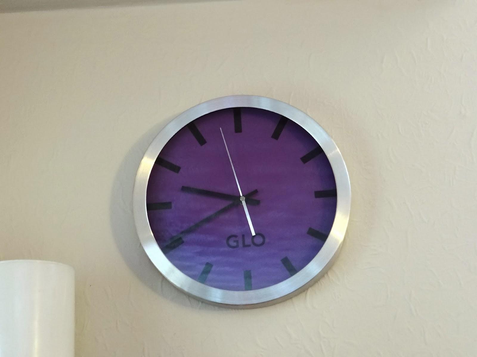 GLO Aluminium Wall Clock, Shoplet Office Supplies, Modern Wall Clock