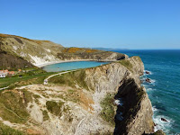 Lulworth Cove, kanał La Manche, plaża, klify,