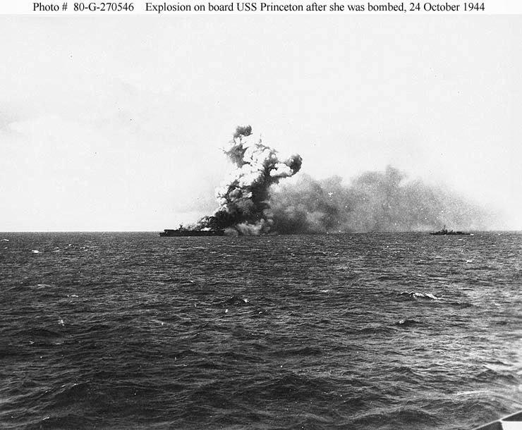 naval warfare  uss princeton  cv