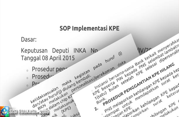 Cara Mendapatkan Kartu PNS Elektrik Download SOP Implementasi KPE
