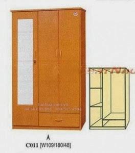 Tủ nhựa đài loan 2 buồng 5 ngăn C011