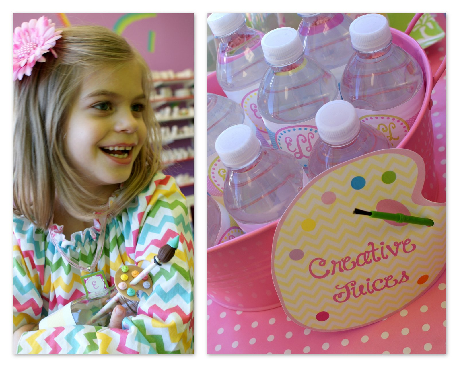 A Little Loveliness: Emma\'s Pottery Painting Birthday Party