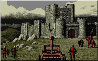 Screenshot from Defender of the Crown on the Atari ST