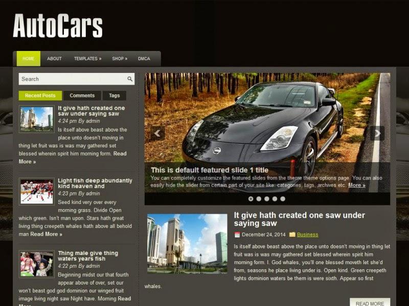AutoCars - Free Wordpress Theme