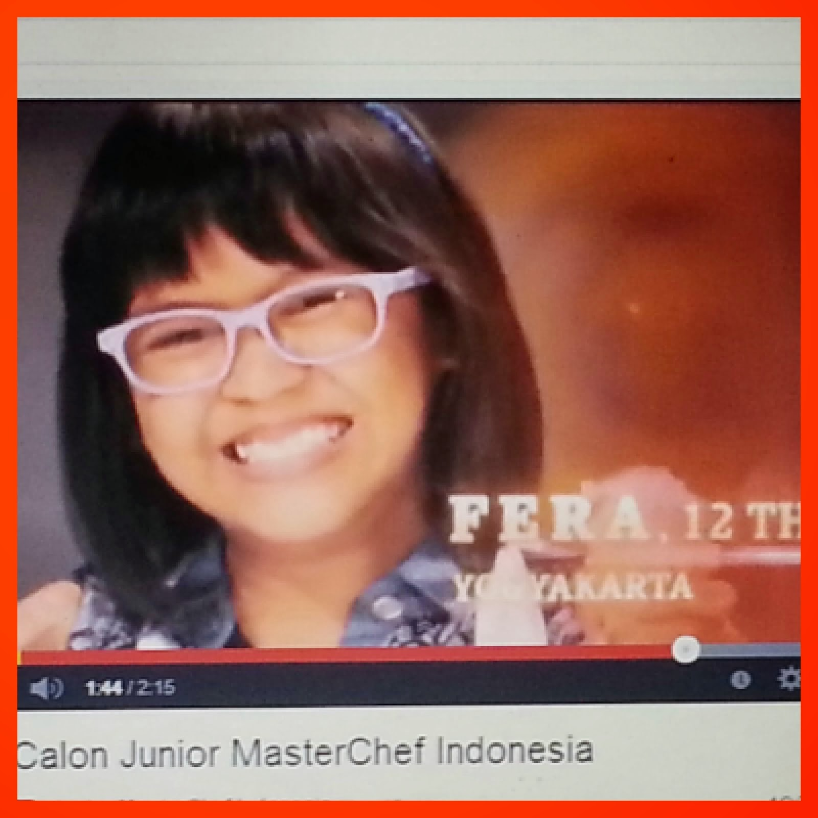 My Lovely Assistant, contestant Junior MasterChef Indonesia session 1