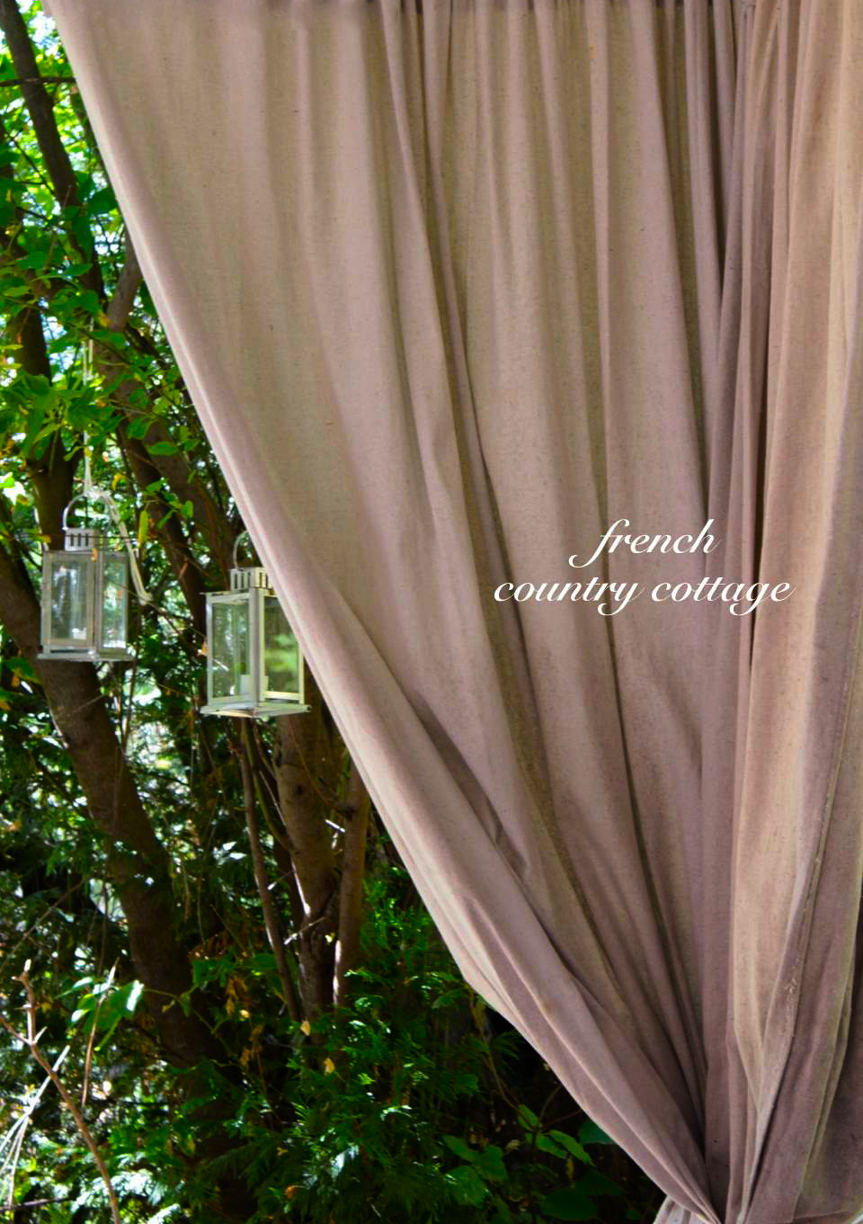 Outdoor Drop Cloth Panels French Country Cottage