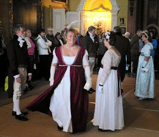 The ballroom at the re-enactment  of Frances Bankes' ball (Nov 2013)