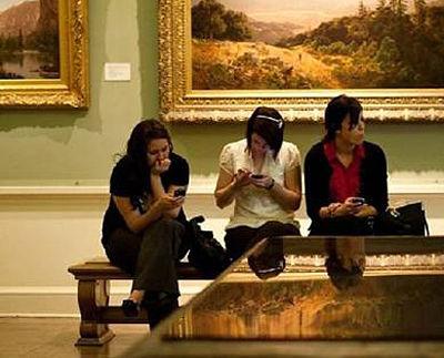 Apreciando a beleza do museu