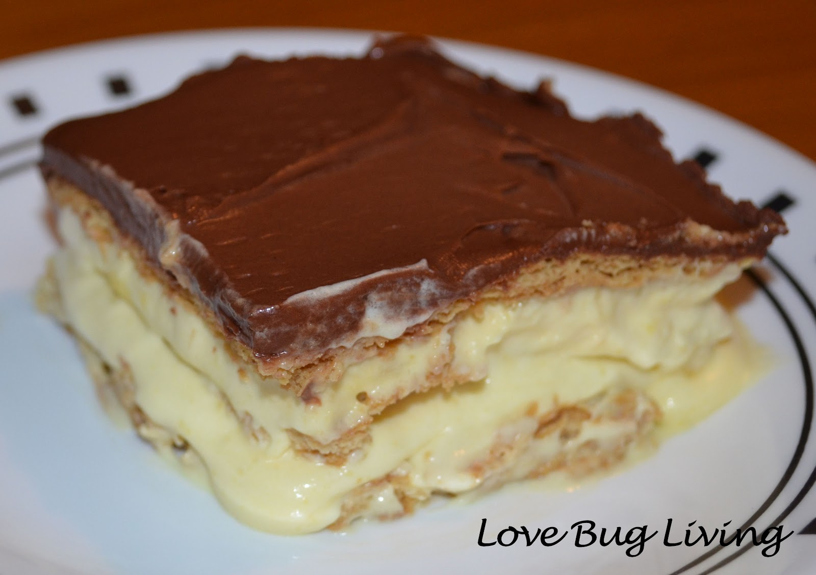 Love Bug Living: Pinterest Father's Day - Chocolate Eclair Cake