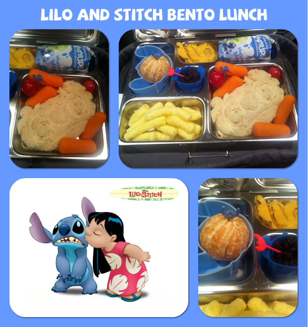 not just a mom with boys lilo and stitch bento box lunch. Black Bedroom Furniture Sets. Home Design Ideas