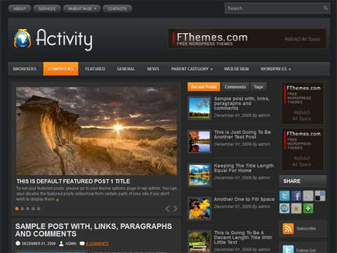 Activity Free WordPress Theme
