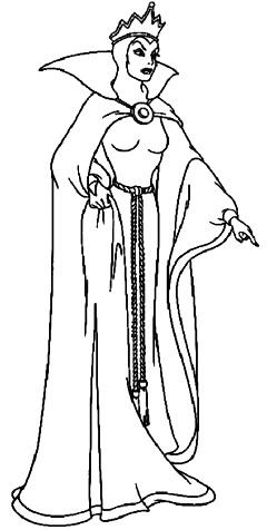 La bruja mala de Blancanieves  para colorear pintar e imprimir