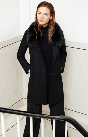 abrigo cuello pelo Zara