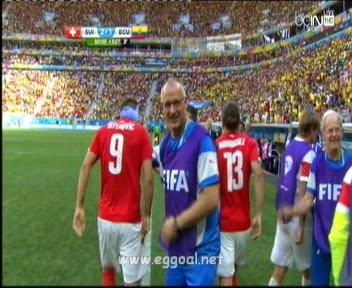 اهداف مبارة سويسرا والاكوادور 2-1
