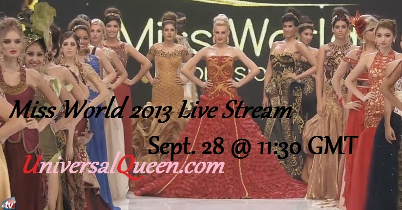 Miss World 2013 Live Stream Streaming Online
