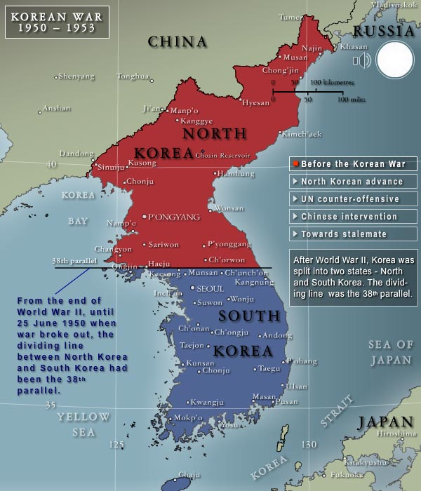 war on the korean peninsula North korea's top diplomat for us affairs said washington crossed the red line and effectively declared war said in an interview that recent us actions have put the situation on the korean peninsula on a war footing.