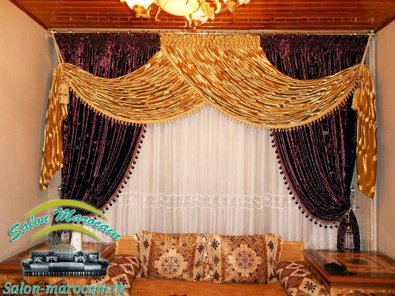 Rideau salon marocain impressionnant