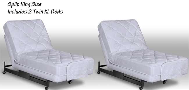 Elegant Two Twin XL Beds Make Up A Split King Bed