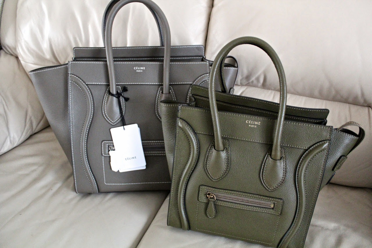 celine micro luggage crocodile grey