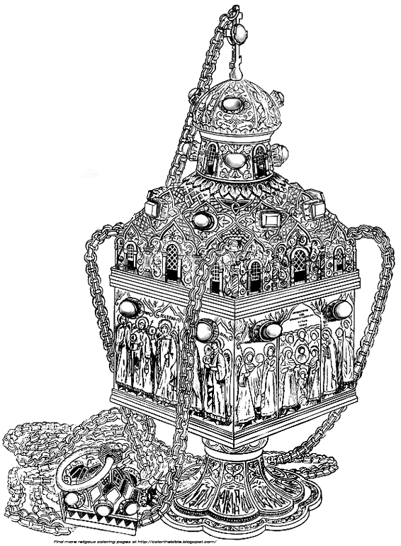 Color A Golden Censer From Russia The Bible