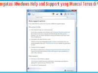 Solusi Windows Help And Support Muncul Terus Di Windows 7
