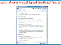 Solusi Windows Help And Support Muncul Terus Di Windows 7