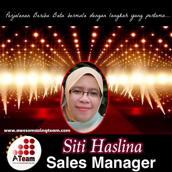 siti haslina berjaya dijuarakan pangkat pertama sales manager