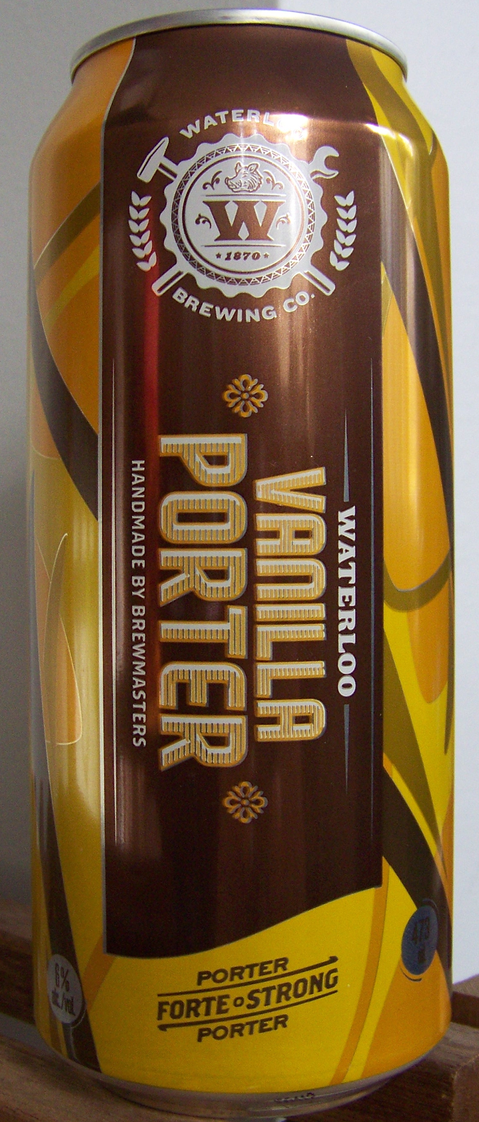 Beer maven vanilla porter waterloo brewing canada for Porter canada