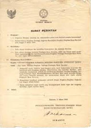 sejarah lahirnya supersemar, teks naskah supersemar yang asli