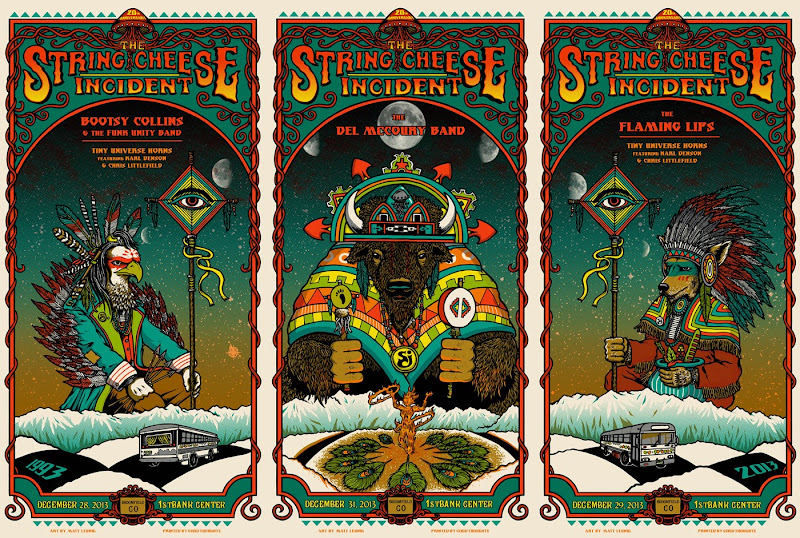 String Cheese Incident NYE Triptych Posters by Matt Leunig title=