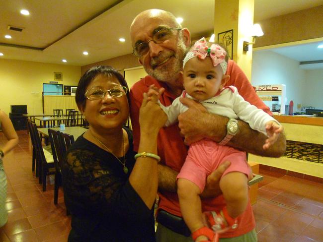 Con la hija de Marchel