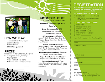 brochure template golf course