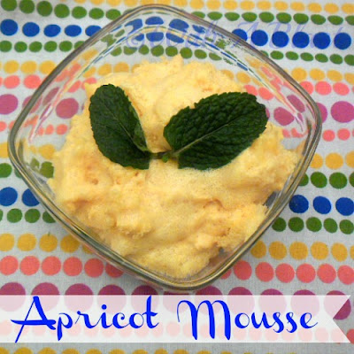 With A Blast: Apricot Mousse  {fluffy & light!}   #desserts  #mousse  #summerrecipes