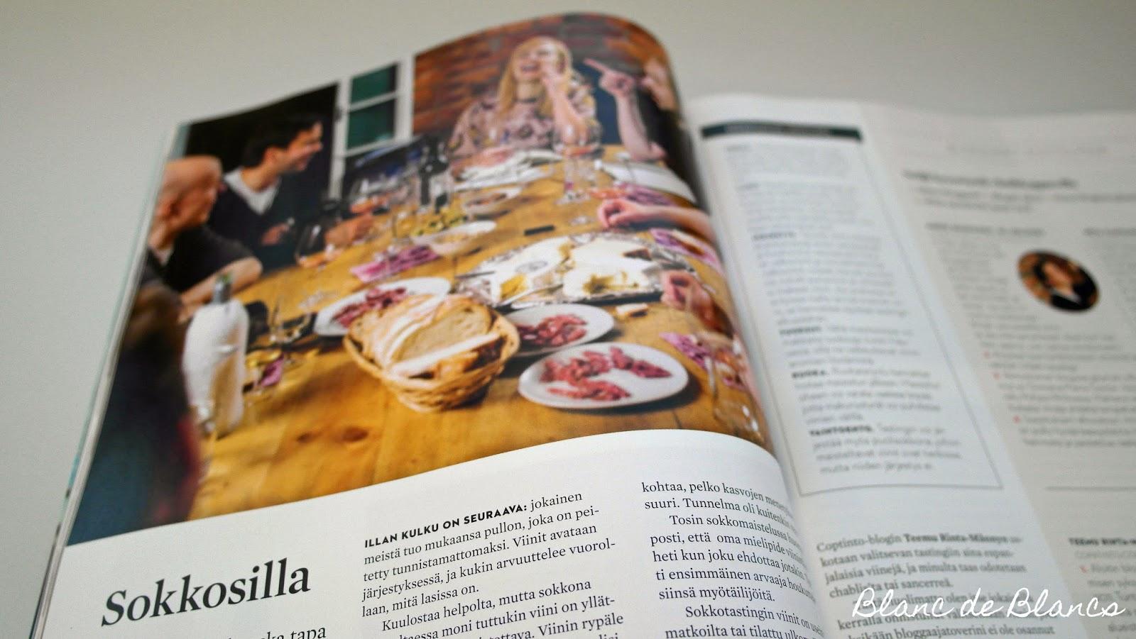 Sokkosilla-artikkeli Viini-lehti - www.blancdeblancs.fi