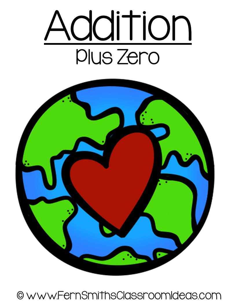 Earth Day - Addition Plus Zero Center Game
