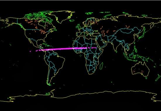 Asteroid 2014 AA Jatuh dan Meledak di Atas Samudera Atlantik