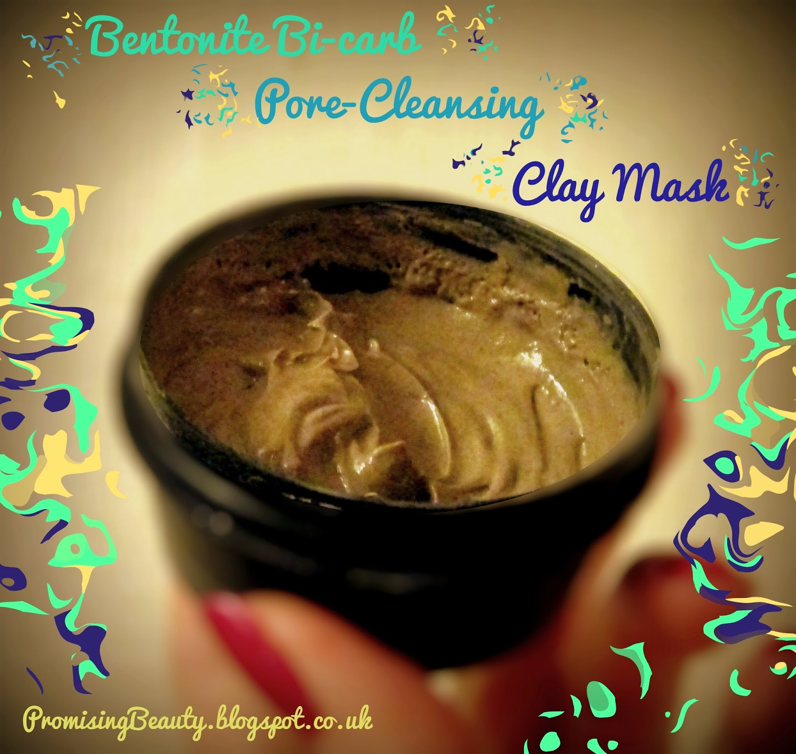 bentonite clay facemask. DIY deep cleansing mask for acne prone skin.