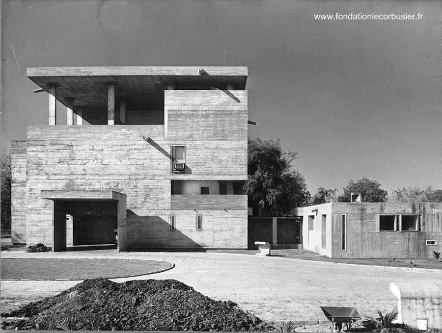 Villa Shodhan casa brutalista en India 1951