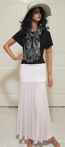 Ladies Solid White Maxi Jersey Knit Missionary Skirt