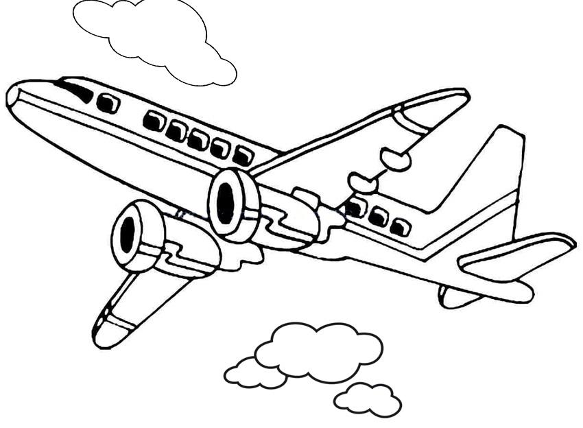 Gambar Mewarnai Pesawat Terbang ~ GAMBAR MEWARNAI