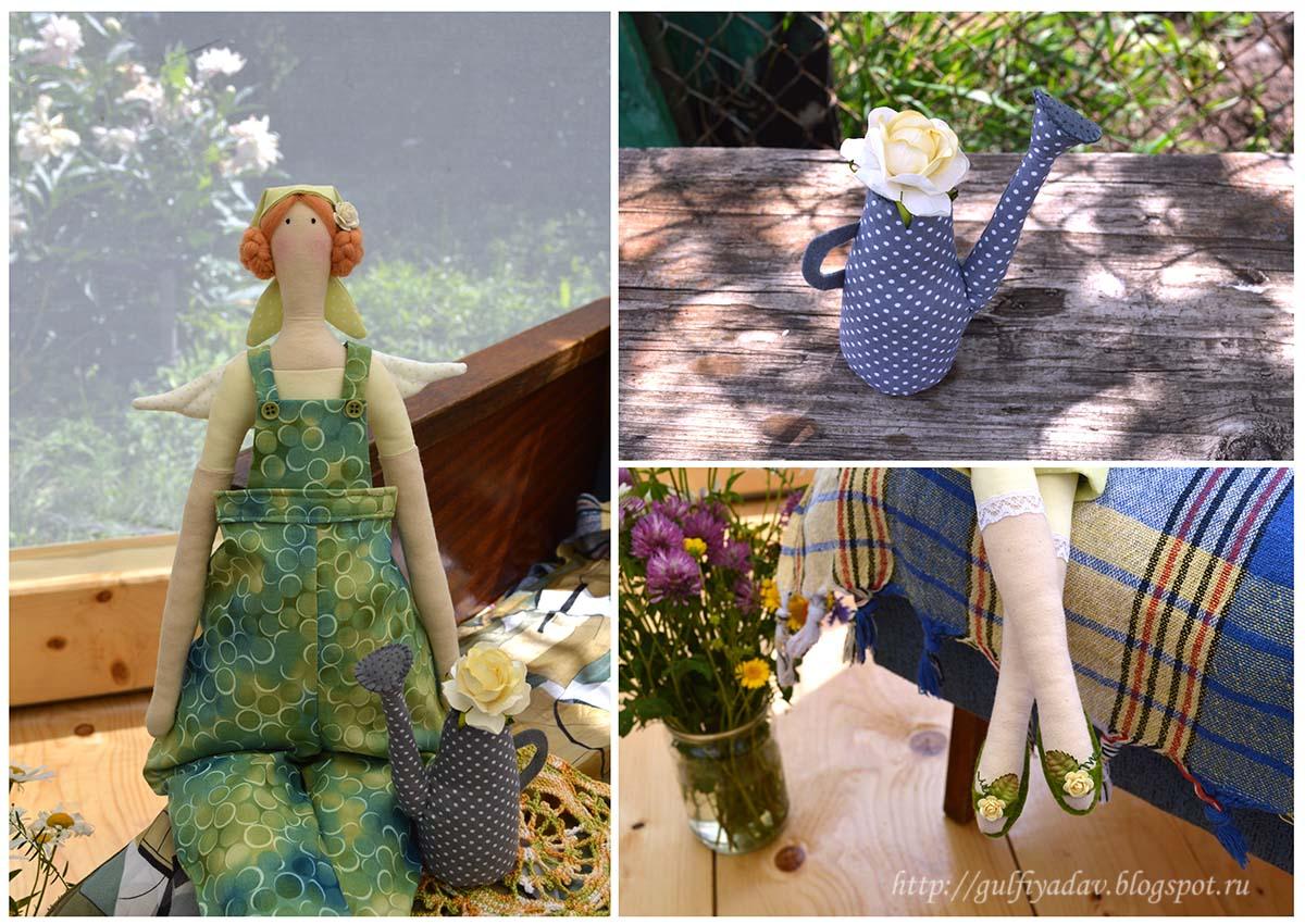 тильда, тильда-садовница, садовый ангел