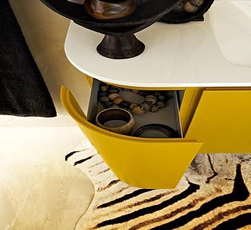 Cuartos De Baño Color Amarillo:Baño Moderno en Color Amarillo