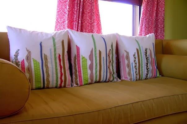Наволочки на диванные подушки своими руками