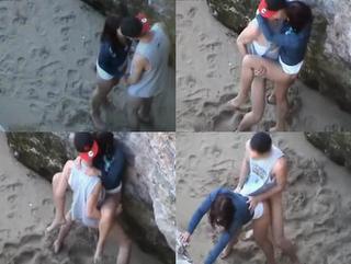 Jovenes Cojiendo Sabroso En La Playa Pillados