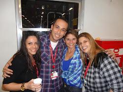 Renata, David, Eu e Charbel