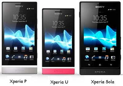 Sony Xperia P, U and sola officially launched in India