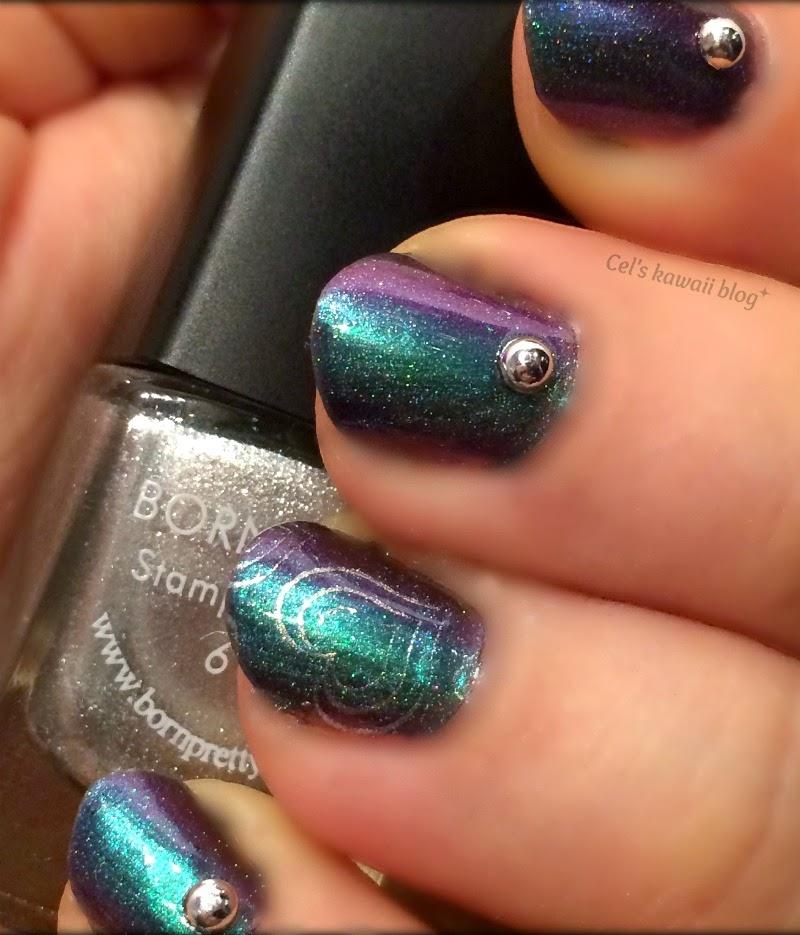 ILNP Sirene Born Pretty Store silver stamping polish
