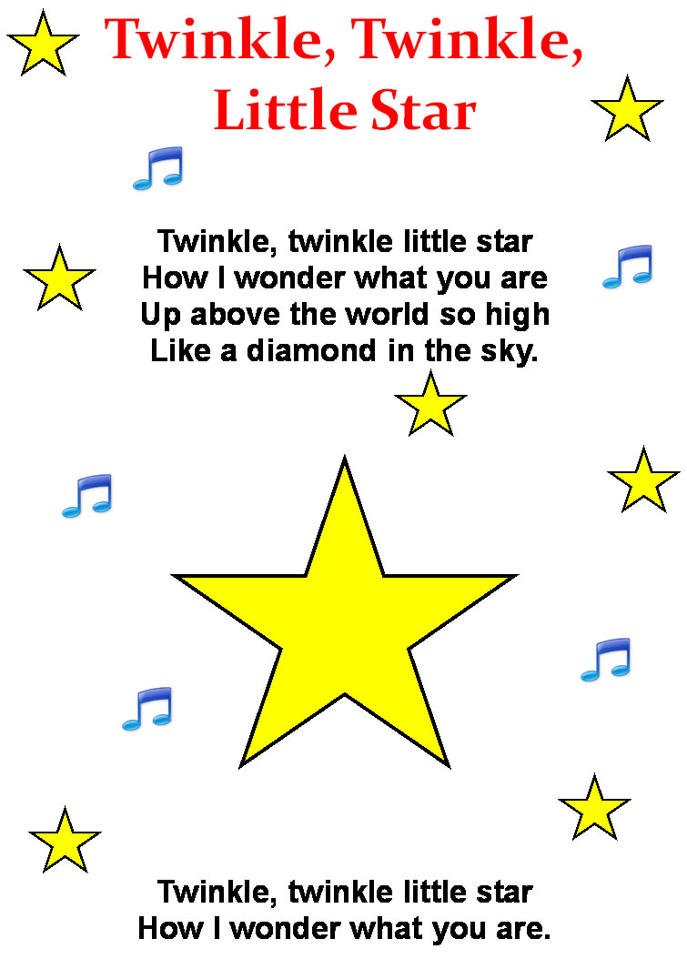 twinkel twinkle little star lyrics f--f.info 2017